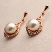 Buy cheap Fashion Accessories China Manufacturer Women Rose Gold Crystal Rhinestone Pearl from wholesalers