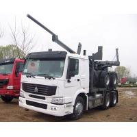 China Sinotruk Howo Wood Transport Log Truck With Trailer , Loading 40-60t on sale