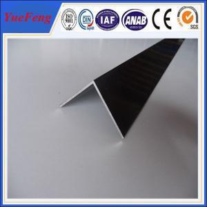 Cheap 6063 T5 aluminum angle profile / OEM aluminum angles / per ton of aluminum manufacturer for sale