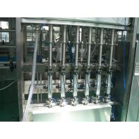 Cheap 25 ~ 30 bpm Piston Filling Machine with 6 to 12 filling nozzles for Oil, Syrup & Detergent for sale