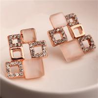Quality China Manufacturer Women's Rose Gold Plated Clear Crystal & Simulated White Opal wholesale