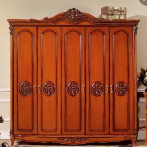 Cheap 5 Door Antique Classic Furniture Wardrobe Bedroom for sale