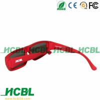 Red Frame Woman Circular Polarized 3D Glasses Movie Theater 3D Glasses