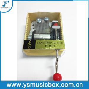 Cheap Yunsheng 18 Tune Hand-crank Paper music box PVC sleeve(YH2/N-01) for sale