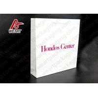 Cheap White Card Paper Material Promotional Carrier Bags , Branded Promotional Products Bags for sale