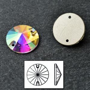 Cheap sewable rhinestone button wedding dress crystal ab stone for sale