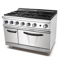 Cheap Industrial Kitchen Cooking Equipment 6 Burner Freestanding Gas Stove With Oven for sale