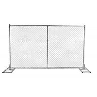 Cheap 6 foot x 12 foot cross brace construction fencing for temporary using 60mm x 60mm chain mesh for sale