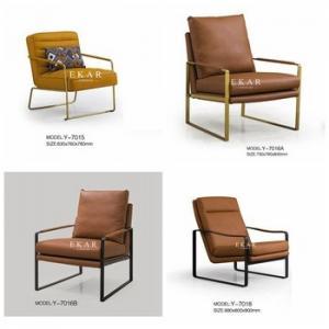 Cheap Modern Armchair Leather Metallic Base Leisure Chair for sale