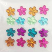 Cheap flower rhinestone crystal epoxy sticker for mobile cover for sale