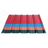 Chemical Resistance ASA Coating Plastic Corrugated Roofing , Wave Height 26mm Manufactures