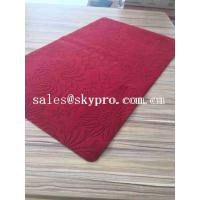 China Popular Eco - Friendly Natural Neoprene Rubber Sheet / Rubber Yoga Mat Microfiber Velvet , Custom Printed on sale