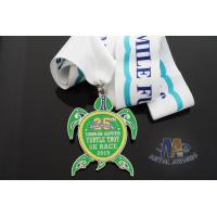 China Sea Turtle Design Custom Imitation Hard Enamel with Sublimated Ribbon on sale
