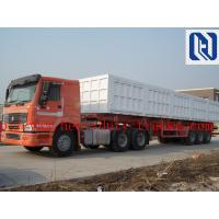 Cheap Carbon Steel Hydraulic Lifting 40 Ton Grapple Tri Axle Tipper Trailer For Landscape Garden Military for sale