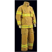 Cheap Yellow Pbi Fireman Turnout Gear /  3 Layers Firefighter Bunker Gear for sale