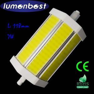 Cheap R7S LED R7S BULB COB Aluminum+Plastic 7W 118mm(118mm*54mm) for sale