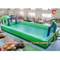 Cheap Big Exciting Inflatable Football Pitch Hire , Outdoor Inflatable Soccer Fields PVC Material for sale