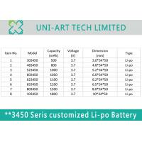 Cost valuable lithium polymer battery 483450 800mAh for GPS, payment terminals