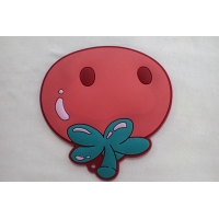 Cheap Customized Rubber 3D Logo Label PVC Embossed Engraved Rubber Patch for sale