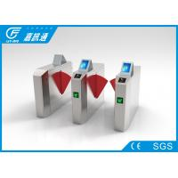 Stainless steel flap barrier gate with LCD screen for zoo , CF238FLG-YT
