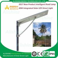 Cheap China Supplier 12V 30W LED All in One Solar Street Light Price List for sale