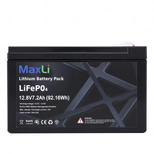 China Black IP56 12V 7.2Ah Lithium Phosphate Battery on sale