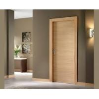 Cheap Simple Plywood Flush Panel Wooden MDF Interior Doors For Hotel Break Resistance for sale