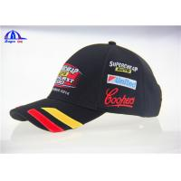 Quality Classical Design V8 Supercards Black Custom Baseball Caps With Patch Embroidery wholesale