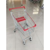 Buy cheap 60 L 4 PU Casters Supermarket Shopping Carts , Shopping Push Cart With Groceries from wholesalers