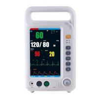 Cheap 7 Inch Color Screen Multi Parameter Patient With 4 Standard Parameters ECG, NIBP, SpO2, RESP Built-in Lithium Battery for sale