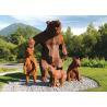Buy cheap Life Size Garden Animal Statue Corten Steel Bear Sculpture Outdoor from wholesalers