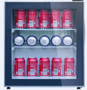 Glass Door Lockable Under The Counter Wine Chiller For 25 Bottles Beverages