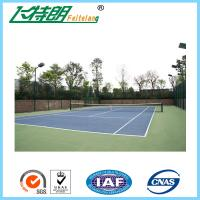 Cheap 4mm Thickness Rubber PU Sports Flooring For Volleyball Court / Tennis Court for sale