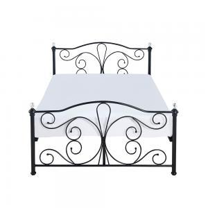 Cheap Full King Size Black Metal Platform Bed Electrostatic Powder Coating for sale