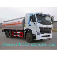 Cheap SINOTRUK HOWO A7 6x4 Oil Tanker Truck 371 hp with 25000L , EURO III Emission for sale