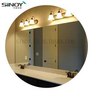 Cheap Simple Frameless Bathroom simple mirror beveled edge for sale