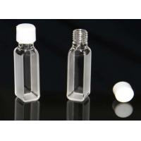 Buy cheap standard UV Quartz cuvette with screw cap, JGS1 material, seamless,first grade from wholesalers
