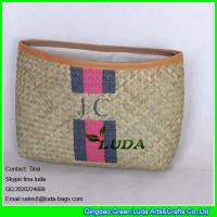 China LUDA 2015 customized clutch straw purse natural seagrass wholesale straw handbag on sale