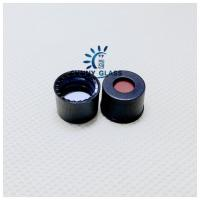 SC8 PTFE/Silicone septa, black screw polypropylene cap, 5.5mm centre hole/ use for 8-425 hplc vial