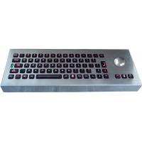Cheap Desktop movable illuminated metal keyboard with integrated trackball IP65 for sale