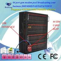 Buy cheap USB 64 ports GSM GPRS SMS MODEM POOL modem pool IMEI CHANGEABLE from wholesalers