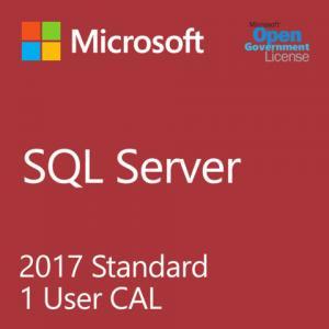 Cheap 1 User Client Access SQL Server Standard License 128 GB Max Memory Utilization DBE for sale