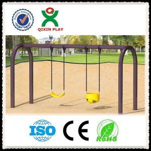 China kids metal park swing set,Kids Outdoor playground plastic garden swing in playground on sale