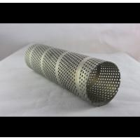 Cheap Welded Anodized Spiral Perforated Tube For Food Service , Waste Management for sale
