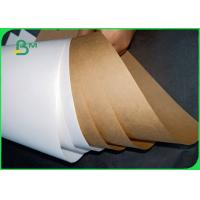 Buy cheap 80gsm 90gsm FDA virgin pulp white / brown craft paper roll for flour bag from wholesalers