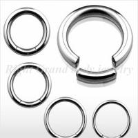 Cheap Steel Round Segment Dimple Ball Captive Bead Rings / 316L Surgical Steel Segement Ring for sale