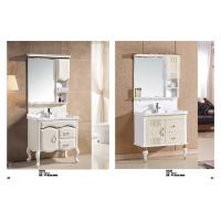 Rectangular Sink Floating Bathroom Vanities LED Lamp Mirror Ceramic Basin Manufactures