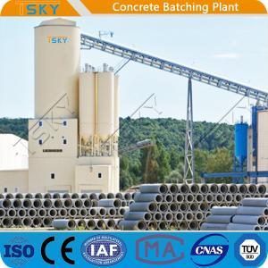 Cheap 4.0m Discharging Compact HLS240 Precast Batch Plant for sale