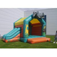 Cheap Elephant Inflatable Combo Jungle Bouncy Castle Slide Hire For Play Park for sale