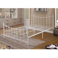 Cheap Modern Leisure Living Room 1MM White Metal Double Bed for sale